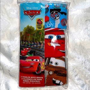 Disney Cars Boys 3 Piece Underwear Briefs Size 4T